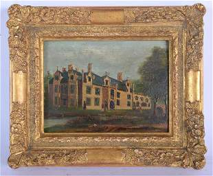 W Grubb (19th Century) Oil on board, Country House.