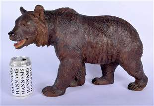 A LARGE 19TH CENTURY BAVARIAN BLACK FOREST CARVED WOOD