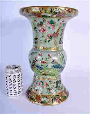 A LARGE 19TH CENTURY CHINESE CANTON FAMILLE ROSE