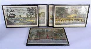 A RARE SET OF 18TH/19TH CENTURY ENGRAVINGS OF SOUTHERN