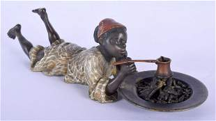 A 19TH CENTURY AUSTRIAN COLD PAINTED BRONZE FIGURE OF A