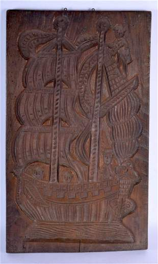 A RARE LARGE 18TH/19TH CENTURY CARVED WOOD TREEN