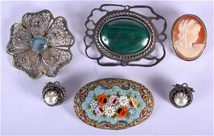 VINTAGE JEWELLERY including a London 1977 silver