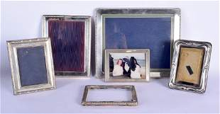 SIX SILVER PHOTOGRAPH FRAMES. London 1985 to 1993. 1962