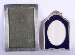 A 1940S SILVER PHOTOGRAPH FRAME together with a