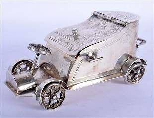 A RARE EARLY 20TH CENTURY ENGLISH SILVER PLATED TOBACCO