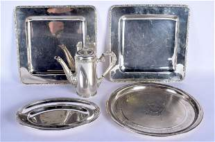 A PAIR OF EARLY 20TH CENTURY CONTINENTAL WHITE METAL
