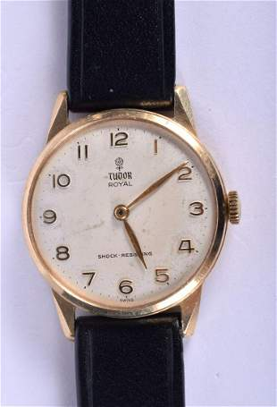 A 9CT GOLD TUDOR ROYAL WRISTWATCH. 36 grams overall. 3