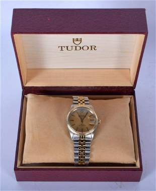 A VINTAGE TWO TONE TUDOR PRINCE ROTOR WRISTWATCH in