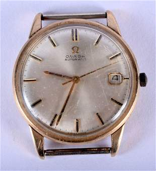 A VINTAGE OMEGA AUTOMATIC WATCH. 3.25 cm wide.
