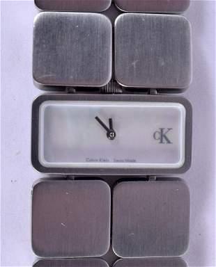 A LADIES CALVIN KLEIN WRISTWATCH. 3 cm x 1.5 cm.