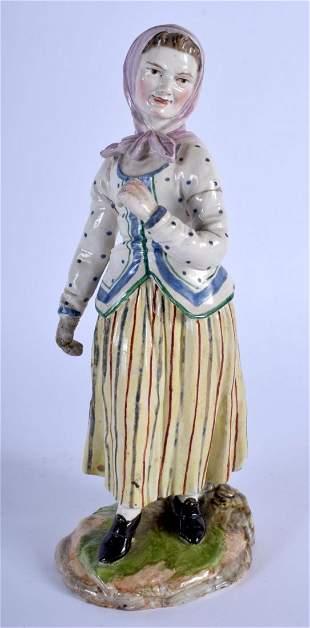 AN 18TH CENTURY GERMAN HOSCHT PORCELAIN FIGURE modelled