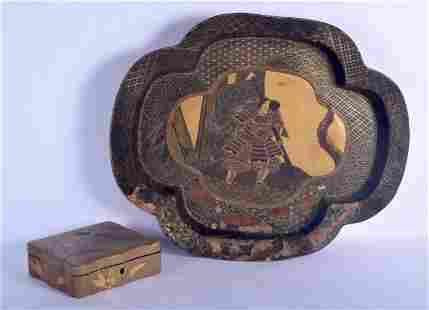 A VERY LARGE 19TH CENTURY JAPANESE MEIJI PERIOD BLACK
