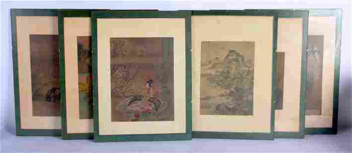 Chinese School (18th/19th Century) 6 x Watercolours,
