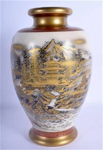 A LATE 19TH CENTURY JAPANESE MEIJI PERIOD SATSUMA VASE