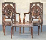 A LOVELY 19TH CENTURY CHINESE CARVED HARDWOOD SUITE