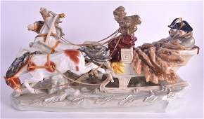 A LARGE DRESDEN PORCELAIN FIGURAL GROUP modelled as a