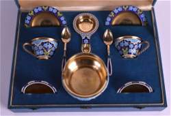 A LOVELY EARLY 20TH CENTURY RUSSIAN SILVER AND ENAMEL