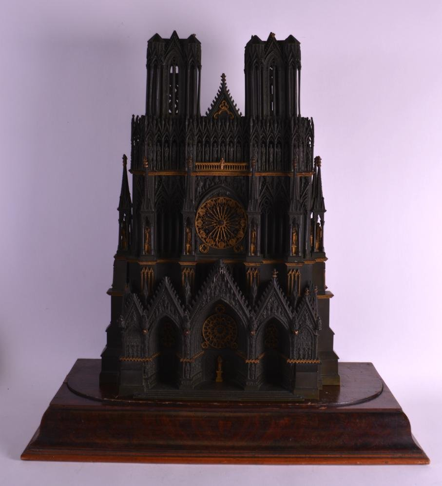 A LOVELY MID 19TH CENTURY FRENCH BRONZE ARCHITECTURAL