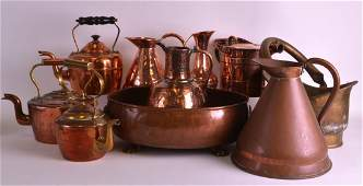 A QUANTITY OF VICTORIAN AND LATER COPPER WARE including