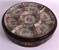 AN EARLY 20TH CENTURY CHINESE CANTON ENAMEL HORDERVES
