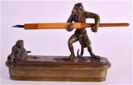 A RARE EARLY 20TH CENTURY AUSTRIAN COLD PAINTED BRONZE