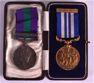 AN RSPCA MEDAL 'FOR HUMANITY' presented to Mr John