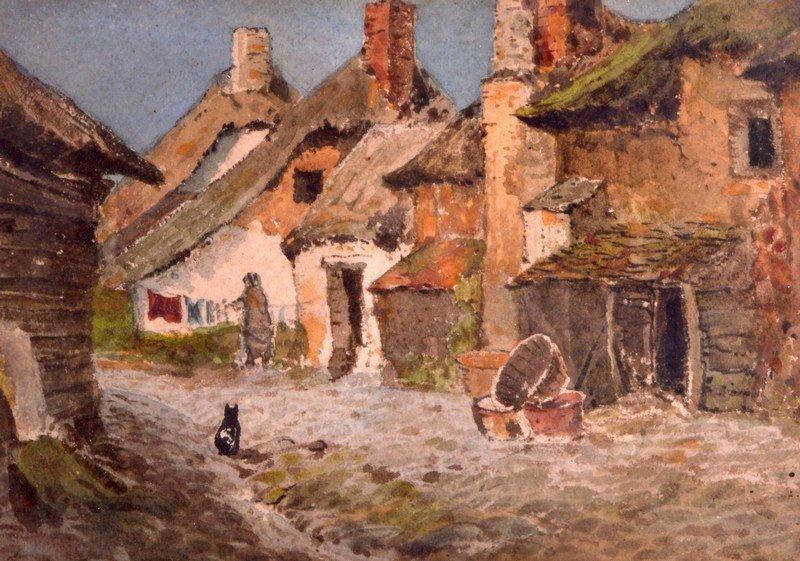 Clayton Adams (19th Century) British, Watercolour,