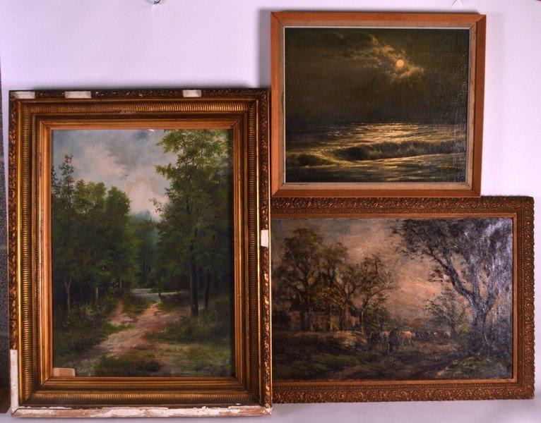 JOHN SYLVESTER (C1920) BRITISH, Oil on canvas, together