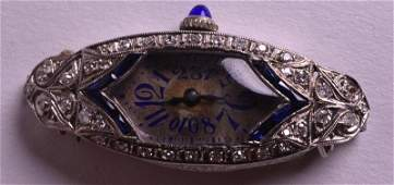 A LOVELY ART DECO PLATINUM DIAMOND AND SAPPHIRE