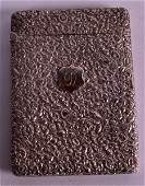 AN UNUSUAL VICTORIAN SILVER CALLING CARD CASE by George