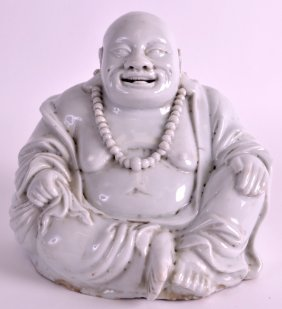 An 18th Century Chinese Blanc De Chine Dehua Buddha