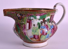 A 19th Century Chinese Canton Famille Rose Jug Painted
