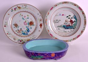 An 18th Century Chinese Export Famille Rose Plate