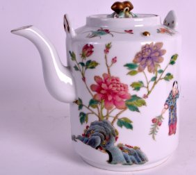 A Chinese Famille Rose Porcelain Teapot And Cover 20th