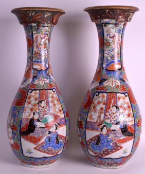 A Large Pair Of 19th Century Japanese Meiji Period