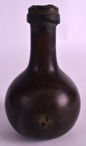 A Rare 18th Century Miniature String Neck Glass Bottle