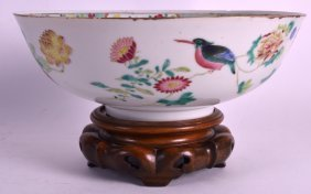 A Good 19th Century Chinese Famille Rose Bowl Daoguang,