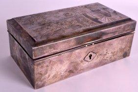 A 19th Century Japanese Meiji Period Rectangular Silver