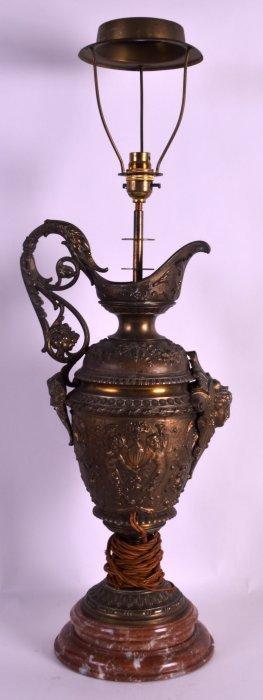 A Mid 19th Century Italian Grand Tour Bronzed Ewer