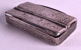 A Very Rare 19th Century French Silver Snuff Box With