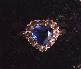 An Edwardian 9ct Yellow Gold And Sapphire Ring.