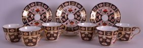 A Set Of Six Royal Crown Derby Imari Cups And Saucers