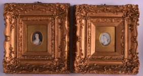 A Pair Of 18th/19th Century English Portrait Miniatures