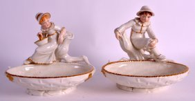 A Pair Of Late 19th Century Royal Worcester Hadley