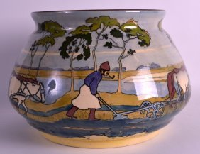 A Rare Arts And Crafts Hungarian Pottery Jardiniere