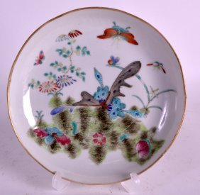 A 19th Century Chinese Famille Rose Dish Painted With