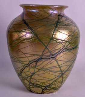 A Fine Early 20th Century Loetz Glass Vase Wonderfully