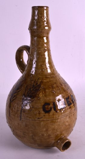 A Retro Studio Pottery West Country Cider Jug Painted