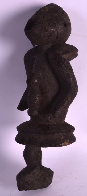 A Rare Early 20th Century Carved African Fetish Figure